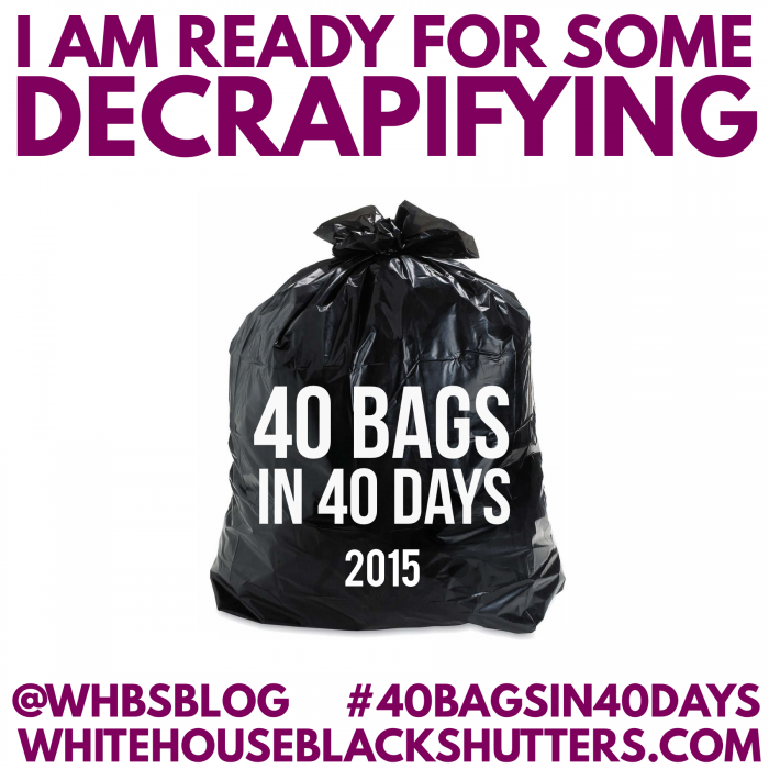 Declutter 40 bags in 40 days