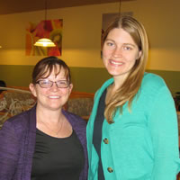 Cyndi Krause & Dr. Jamie Tripp Thomue Host Cooking Class